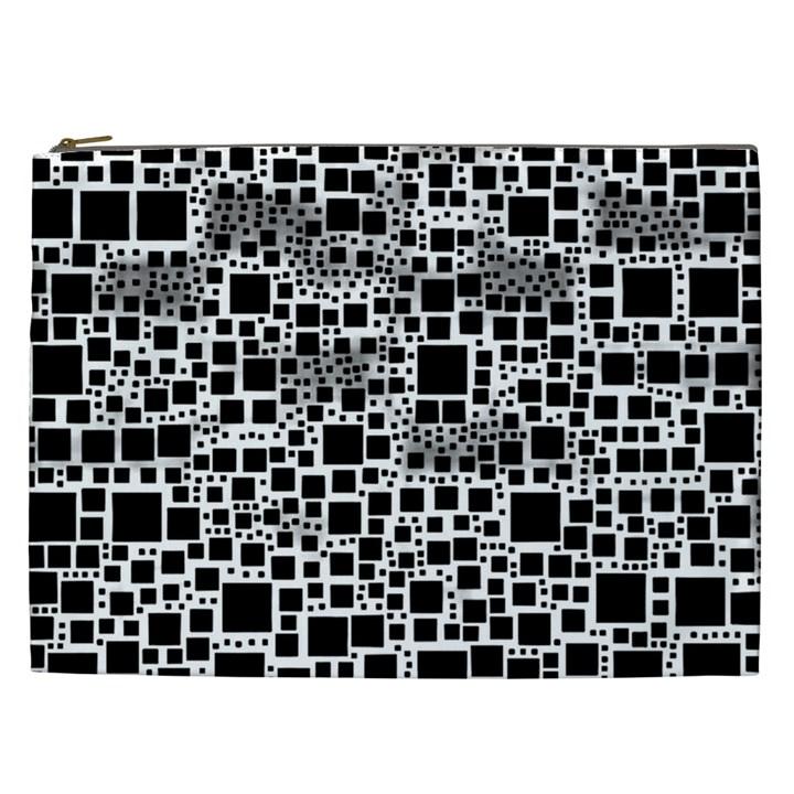 Block On Block, B&w Cosmetic Bag (XXL)