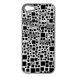 Block On Block, B&w Apple iPhone 5 Case (Silver) Front