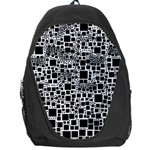 Block On Block, B&w Backpack Bag Front