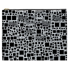 Block On Block, B&w Cosmetic Bag (xxxl)