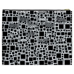 Block On Block, B&w Cosmetic Bag (XXXL)  Back
