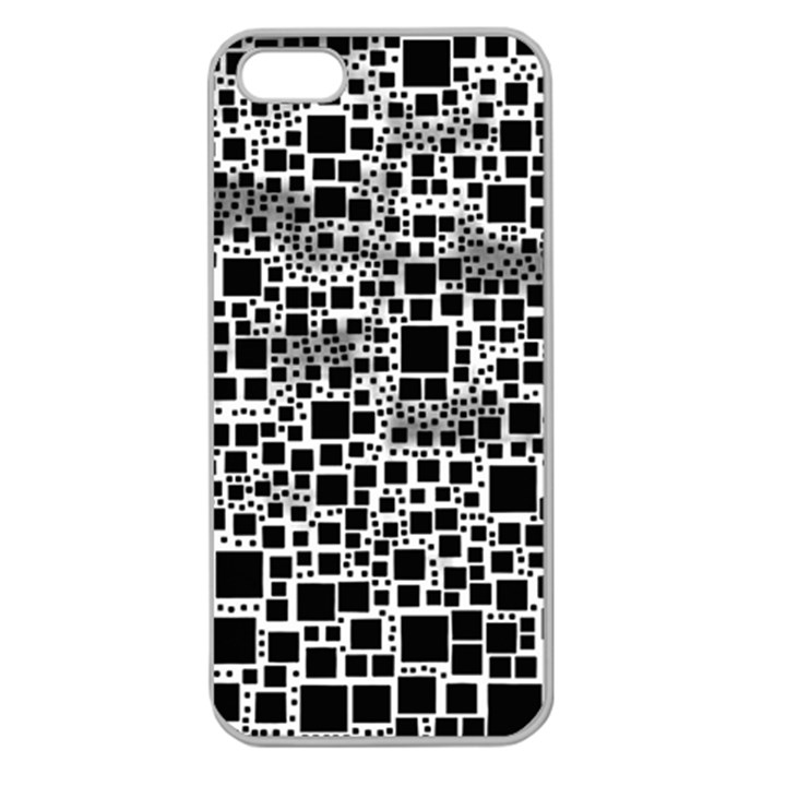 Block On Block, B&w Apple Seamless iPhone 5 Case (Clear)