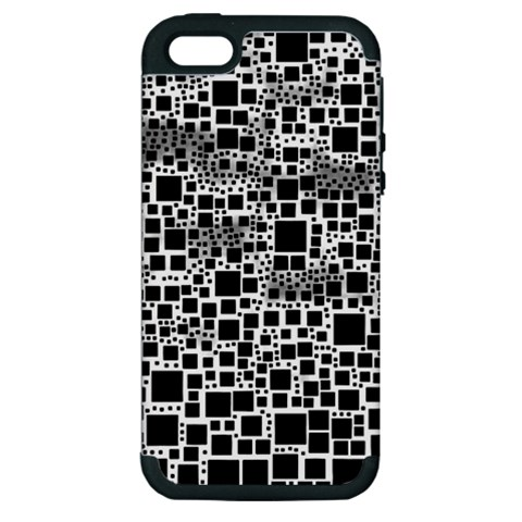 Block On Block, B&w Apple iPhone 5 Hardshell Case (PC+Silicone)