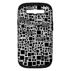 Block On Block, B&w Samsung Galaxy S Iii Hardshell Case (pc+silicone)