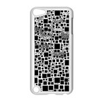 Block On Block, B&w Apple iPod Touch 5 Case (White) Front