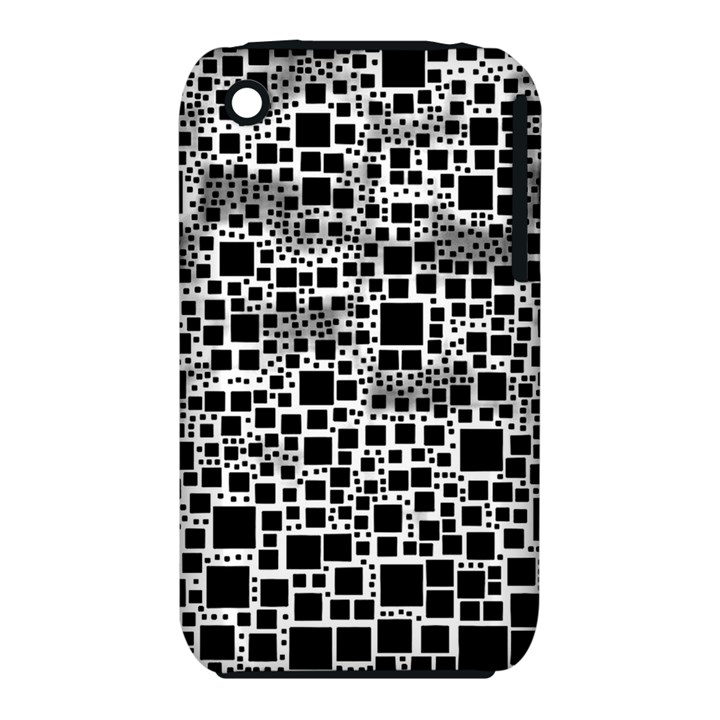 Block On Block, B&w Apple iPhone 3G/3GS Hardshell Case (PC+Silicone)
