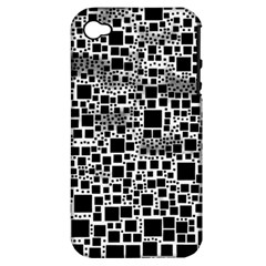 Block On Block, B&w Apple iPhone 4/4S Hardshell Case (PC+Silicone)