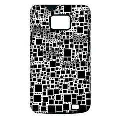 Block On Block, B&w Samsung Galaxy S II i9100 Hardshell Case (PC+Silicone)