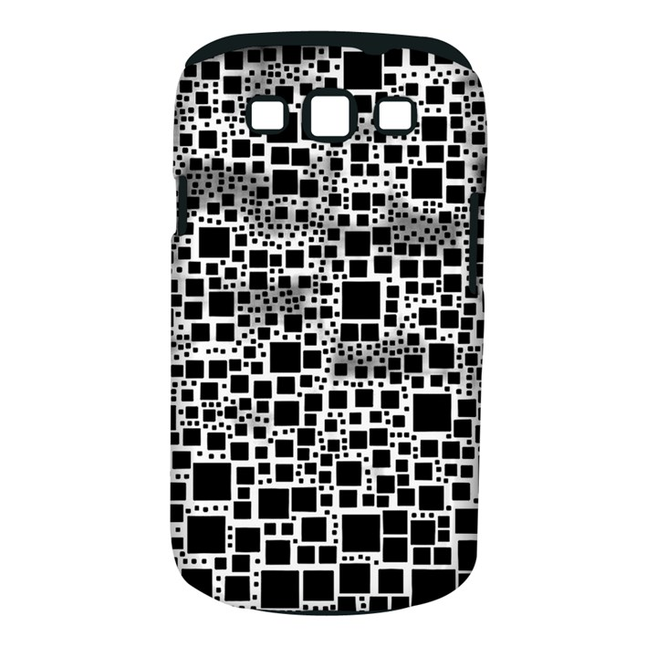 Block On Block, B&w Samsung Galaxy S III Classic Hardshell Case (PC+Silicone)