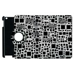 Block On Block, B&w Apple iPad 3/4 Flip 360 Case Front