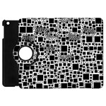Block On Block, B&w Apple iPad Mini Flip 360 Case Front