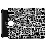 Block On Block, B&w Kindle Fire HD Flip 360 Case Front