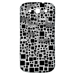 Block On Block, B&w Samsung Galaxy S3 S III Classic Hardshell Back Case