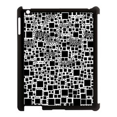 Block On Block, B&w Apple iPad 3/4 Case (Black)