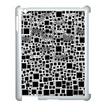 Block On Block, B&w Apple iPad 3/4 Case (White) Front