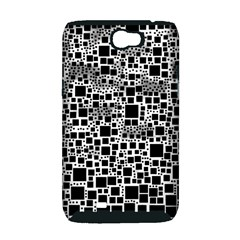 Block On Block, B&w Samsung Galaxy Note 2 Hardshell Case (PC+Silicone)