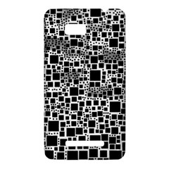 Block On Block, B&w HTC One SU T528W Hardshell Case