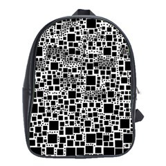 Block On Block, B&w School Bags (XL)
