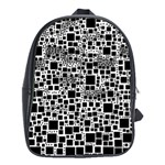 Block On Block, B&w School Bags (XL)  Front