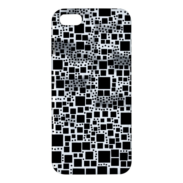 Block On Block, B&w Apple iPhone 5 Premium Hardshell Case