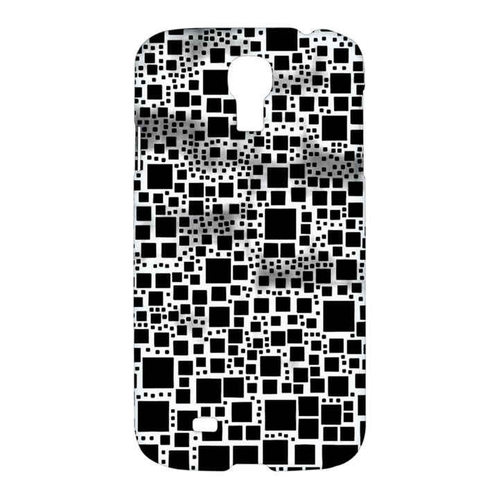 Block On Block, B&w Samsung Galaxy S4 I9500/I9505 Hardshell Case