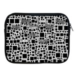 Block On Block, B&w Apple iPad 2/3/4 Zipper Cases Front