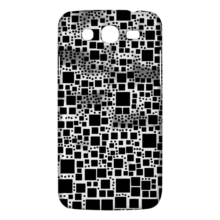 Block On Block, B&w Samsung Galaxy Mega 5.8 I9152 Hardshell Case