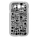 Block On Block, B&w Samsung Galaxy Grand DUOS I9082 Case (White) Front