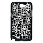 Block On Block, B&w Samsung Galaxy Note 2 Case (Black) Front