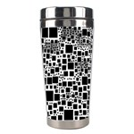 Block On Block, B&w Stainless Steel Travel Tumblers Left