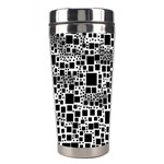 Block On Block, B&w Stainless Steel Travel Tumblers Center