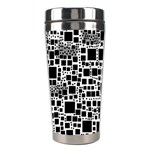 Block On Block, B&w Stainless Steel Travel Tumblers Right