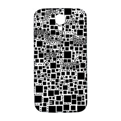 Block On Block, B&w Samsung Galaxy S4 I9500/I9505  Hardshell Back Case