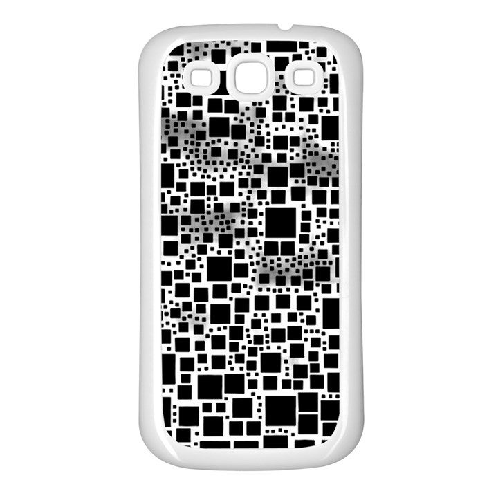 Block On Block, B&w Samsung Galaxy S3 Back Case (White)