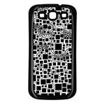 Block On Block, B&w Samsung Galaxy S3 Back Case (Black) Front