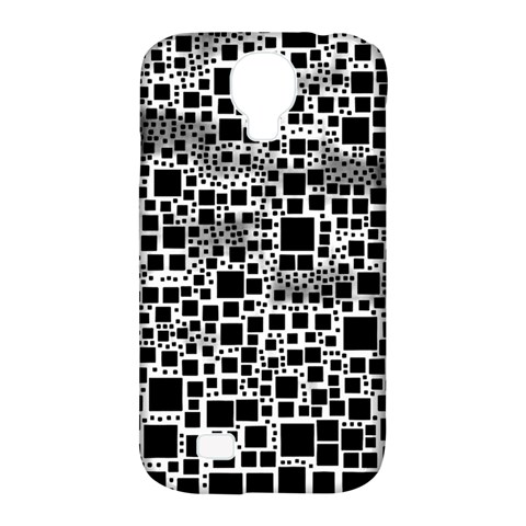 Block On Block, B&w Samsung Galaxy S4 Classic Hardshell Case (PC+Silicone)