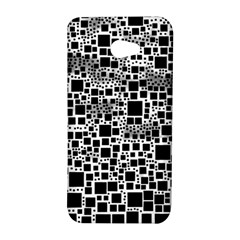 Block On Block, B&w HTC Butterfly S/HTC 9060 Hardshell Case
