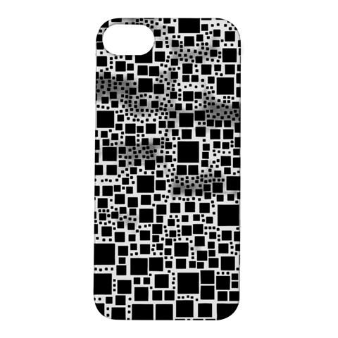 Block On Block, B&w Apple iPhone 5S/ SE Hardshell Case