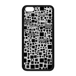 Block On Block, B&w Apple iPhone 5C Seamless Case (Black) Front