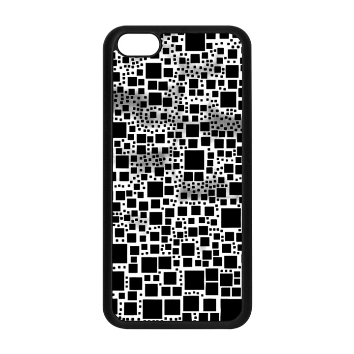 Block On Block, B&w Apple iPhone 5C Seamless Case (Black)