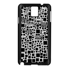 Block On Block, B&w Samsung Galaxy Note 3 N9005 Case (Black)
