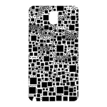 Block On Block, B&w Samsung Galaxy Note 3 N9005 Hardshell Back Case Front