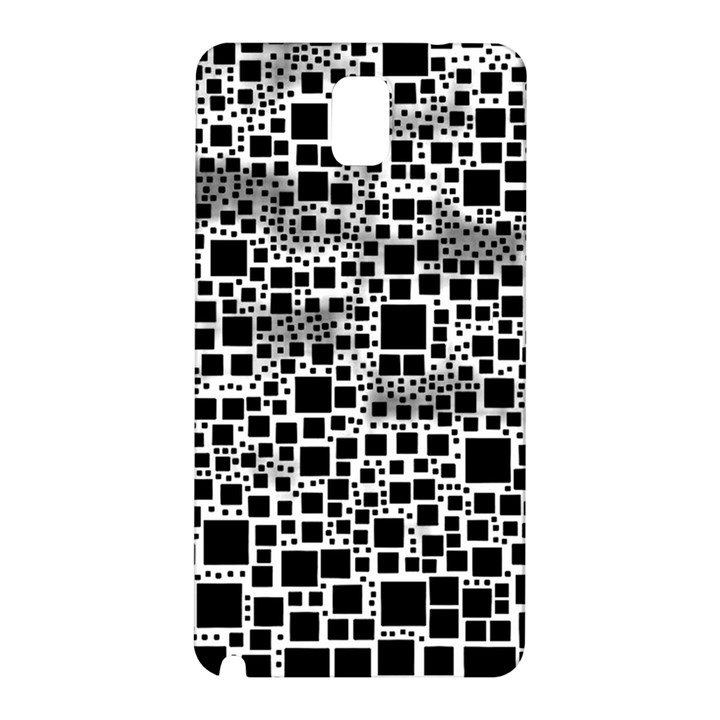 Block On Block, B&w Samsung Galaxy Note 3 N9005 Hardshell Back Case