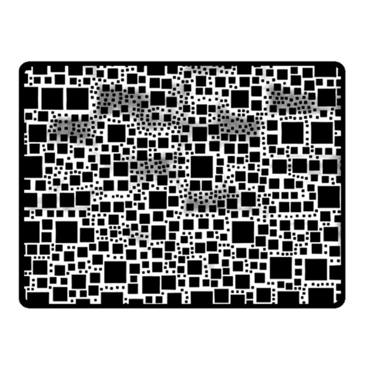 Block On Block, B&w Double Sided Fleece Blanket (Small)