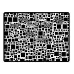 Block On Block, B&w Double Sided Fleece Blanket (Small)  50 x40 Blanket Back