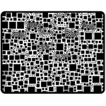 Block On Block, B&w Double Sided Fleece Blanket (Medium)  60 x50 Blanket Back