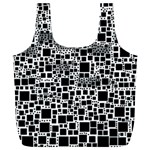 Block On Block, B&w Full Print Recycle Bags (L)  Back