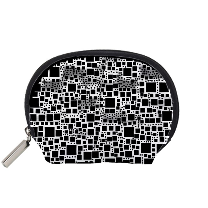 Block On Block, B&w Accessory Pouches (Small)