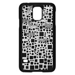 Block On Block, B&w Samsung Galaxy S5 Case (Black) Front