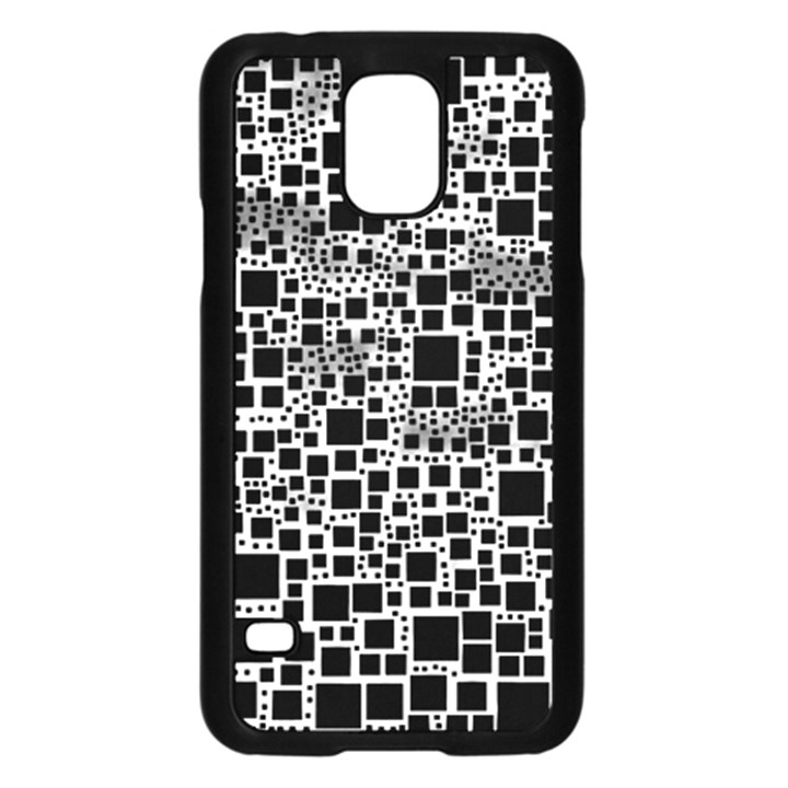 Block On Block, B&w Samsung Galaxy S5 Case (Black)
